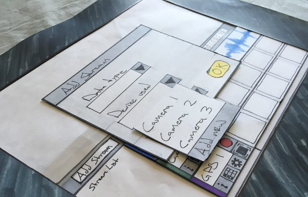 Image of Paper prototype made by hand.
